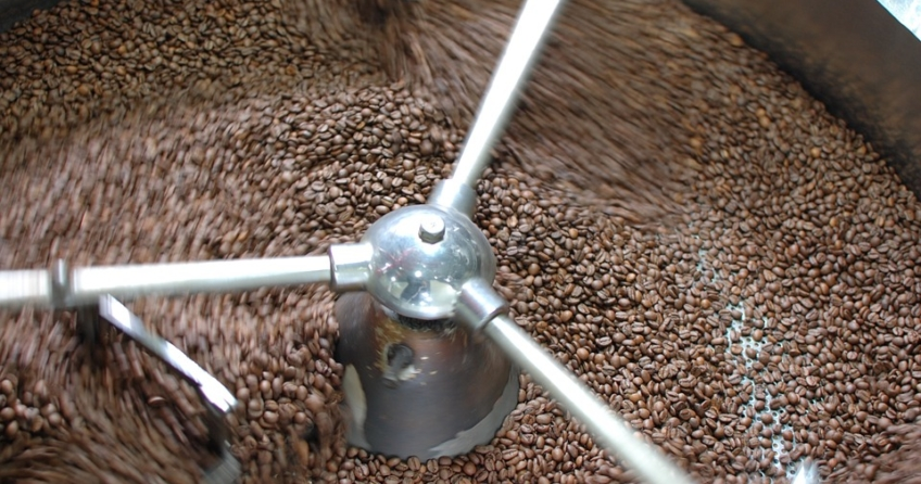 Kolumbianischer Kaffee wird geröstet